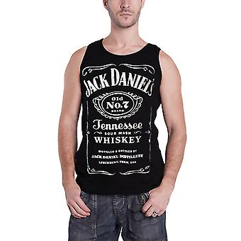 Jack Daniels T shirt Classic Logo Official Mens New black Sleeveless