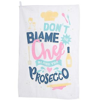 Funky Prosecco Slogan Tea Towel