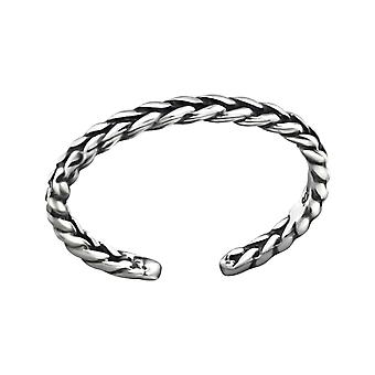 Braided - 925 Sterling Silver Toe Rings - W32305x