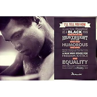 Muhammad Ali - Quote Poster Poster Print