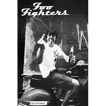 Foo Fighters Finger Poster Poster Print