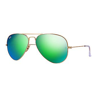Ray - Ban Aviator Large Golden mast mirrored Green Flash