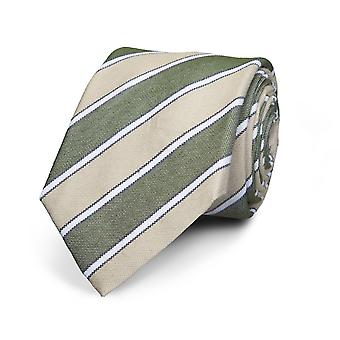 View men's tie silk silk tie striped green - grey special offer