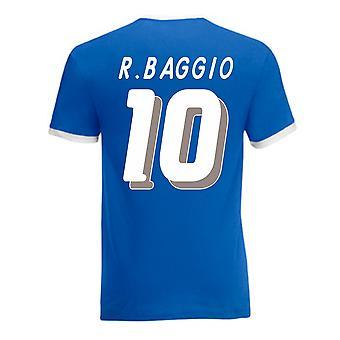 Roberto Baggio Italia Camiseta del campanero (azul)