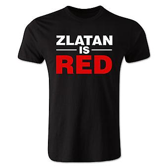 Zlatan Ibrahimovic Zlatan is Red T-shirt (black) - Kids