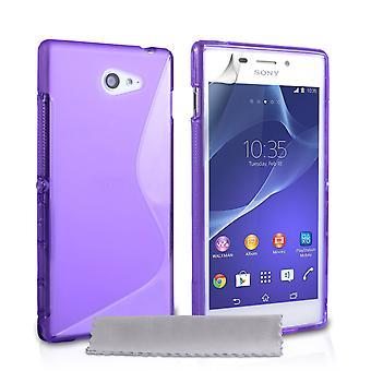 Caseflex Sony Xperia M2 siliconen Gel S-Line Case - paars