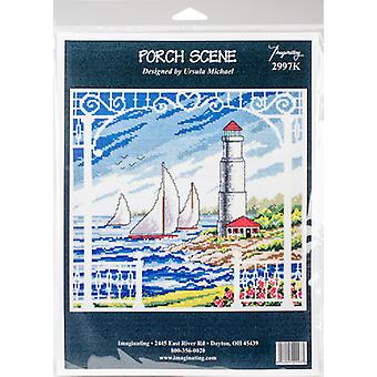 Porch Scene Counted Cross Stitch Kit-10.5