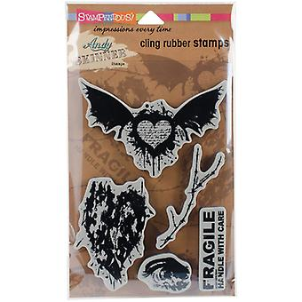 Stampendous Andy Skinner Cling Stamps 9