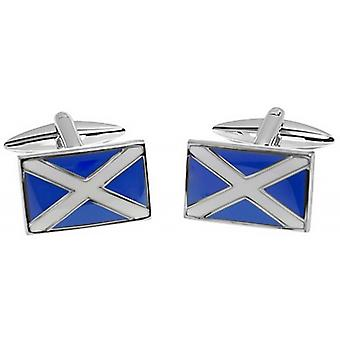 Zennor Scottish Flag Cufflinks - Blue/White