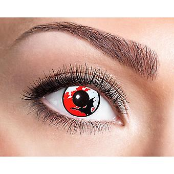 Moon bat Halloween contact lenses