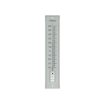 Dr. f. Thermometer Metall weiß 30 cm