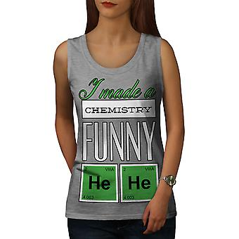 Funny Chemistry Geek Women GreyTank Top | Wellcoda