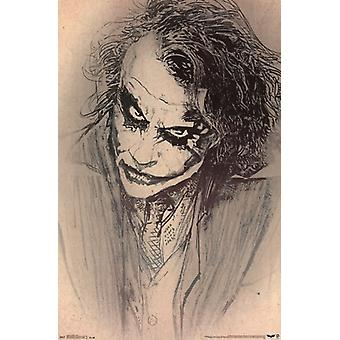 The Dark Knight - Joker Sketch Poster Print