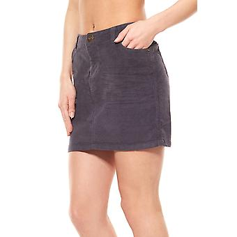 Rock Grau FLASHLIGHTS corduroy mini skirt short