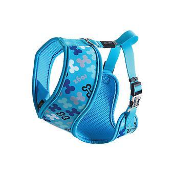 Rogz Lapz Trendy Wrapz Harness X-Small Blue Bones