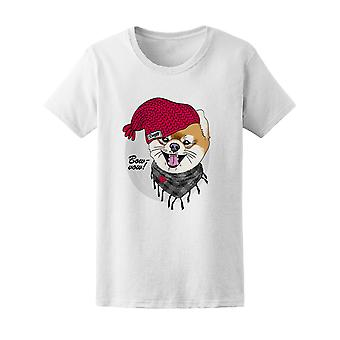 Bow Wow Doggy With Hat Tee Women's -Image by Shutterstock