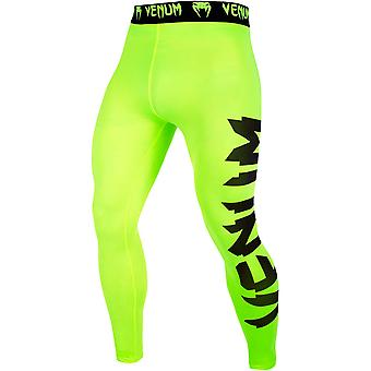Venum Giant Ultra Light Dry Tech MMA Compression Spats - Neon Yellow/Black