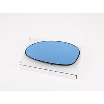 Left Blue Mirror Glass (heated) & Holder For BMW 3 2005-2008