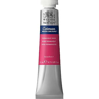 Winsor & Newton Cotman Watercolour Paint 21ml (502 Permanent Rose)