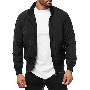 Men's transition jacket Teddyfell Bomberjacket Black Warm Zipper Blouson