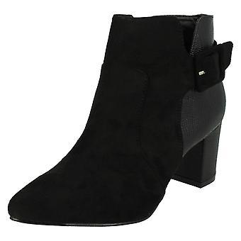 Ladies Anne Michelle Blocked Heel Ankle Boots F50551