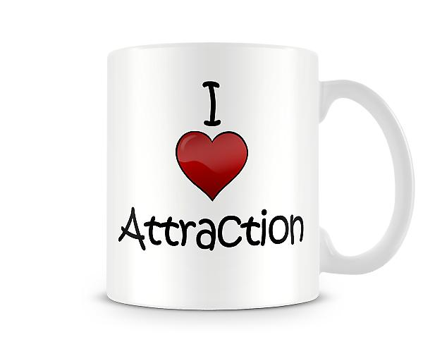Attraction Tasse imprimée J'aime