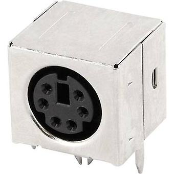 econ connect MDIOB6G Mini DIN connector Socket, horizontal mount Number of pins: 6 Black 1 pc(s)