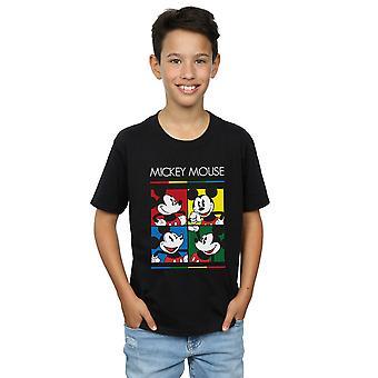 Disney Boys Mickey Mouse Square Colour T-Shirt