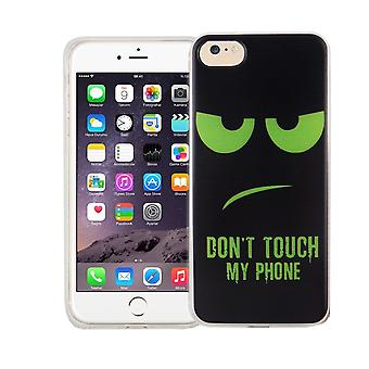 Cell phone case for Apple iPhone 7 cover case protective bag motif slim silicone TPU dont touch my Phone Grün