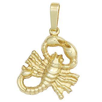 Skorpionanhänger gold Anhänger Sternzeichen Skorpion 333 Gold Gelbgold