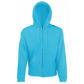 Fruit of the Loom Mens Zip through Plain hooded sweatshirt