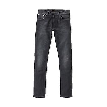 Nudie Jeans Co Tight Terry Skinny Fit Jeans (Rainy Black)