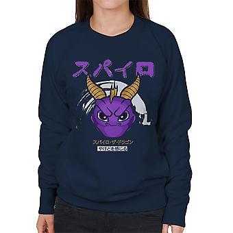 Spyro The Dragon Japanese Text Women's Sweatshirt