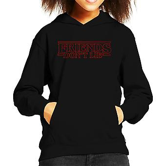 Friends Dont Lie Eleven Quote Stranger Things Kid's Hooded Sweatshirt