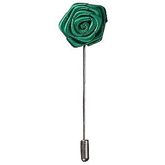Bassin und braune Rose Blume Anstecknadel - grün