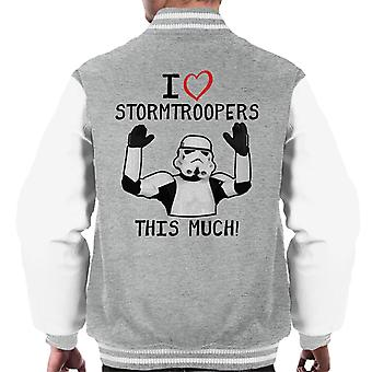 Originele Stormtrooper I Love This Troopers veel mannen Varsity Jacket