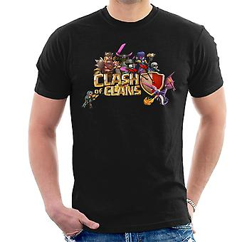 Clash Of klaner tecken logotyp mäns T-Shirt