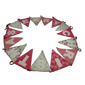Gisela Graham Vintage Merry Christmas Fabric Bunting