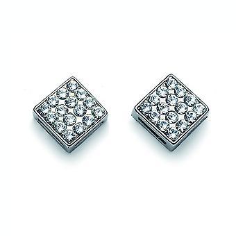 Oliver Weber Post Earring Quad Rhodium Crystal