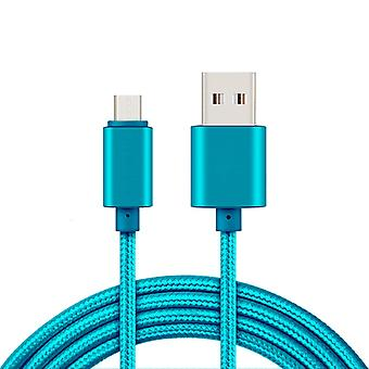 2 m USB Type-C cable for charging and data transfer-Blue