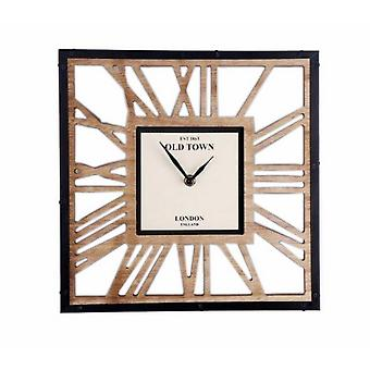 Cut Out Wooden Clock