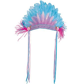Indian Indian Chief Lady feather headdress