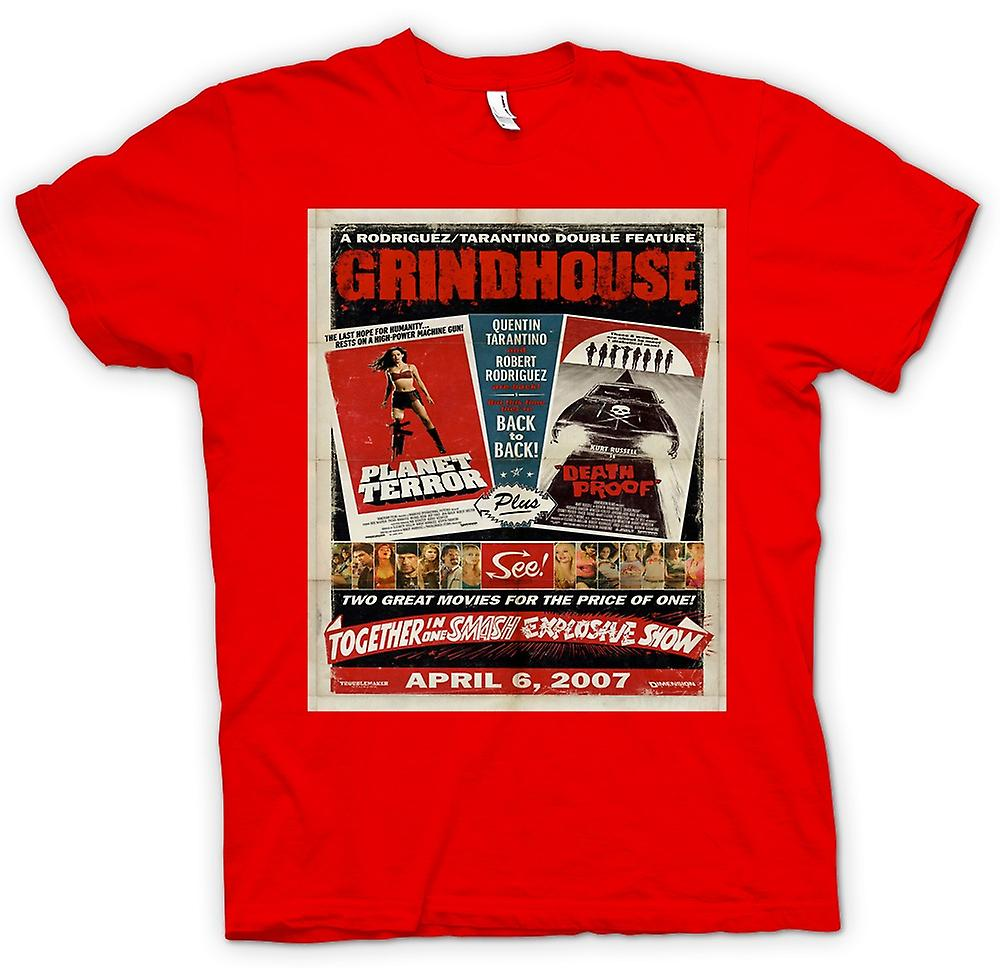 Heren T-shirt-Grindhouse Planet Terror / Death Proof