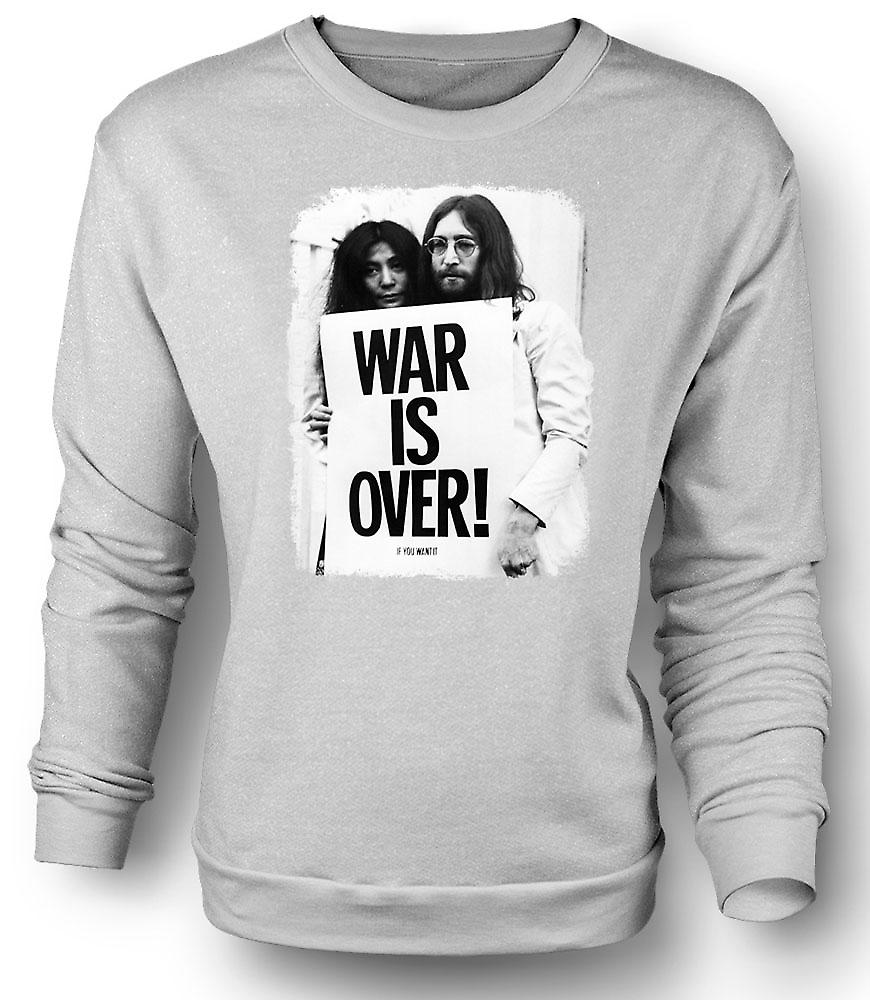 Mens Sweatshirt John Lennon & Yoko - War Is Over