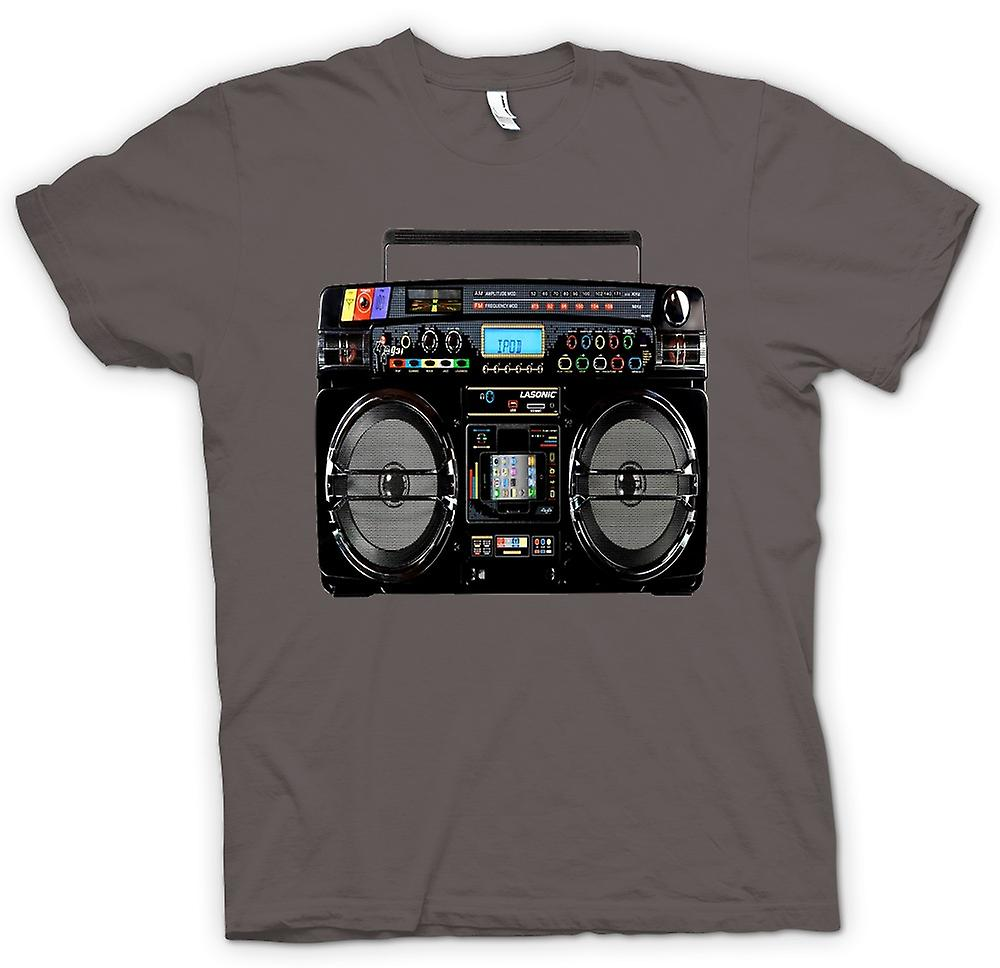 Womens T-shirt - iPod - Ghetto Boom Box