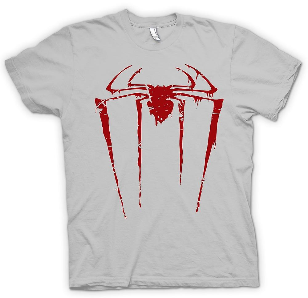 Mens t-shirt-Spiderman Grunge Logo