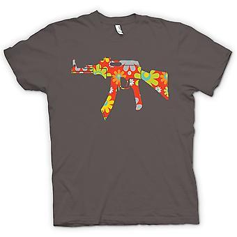 レディース t シャツ - 平和とヒッピー AK47 - おかしい