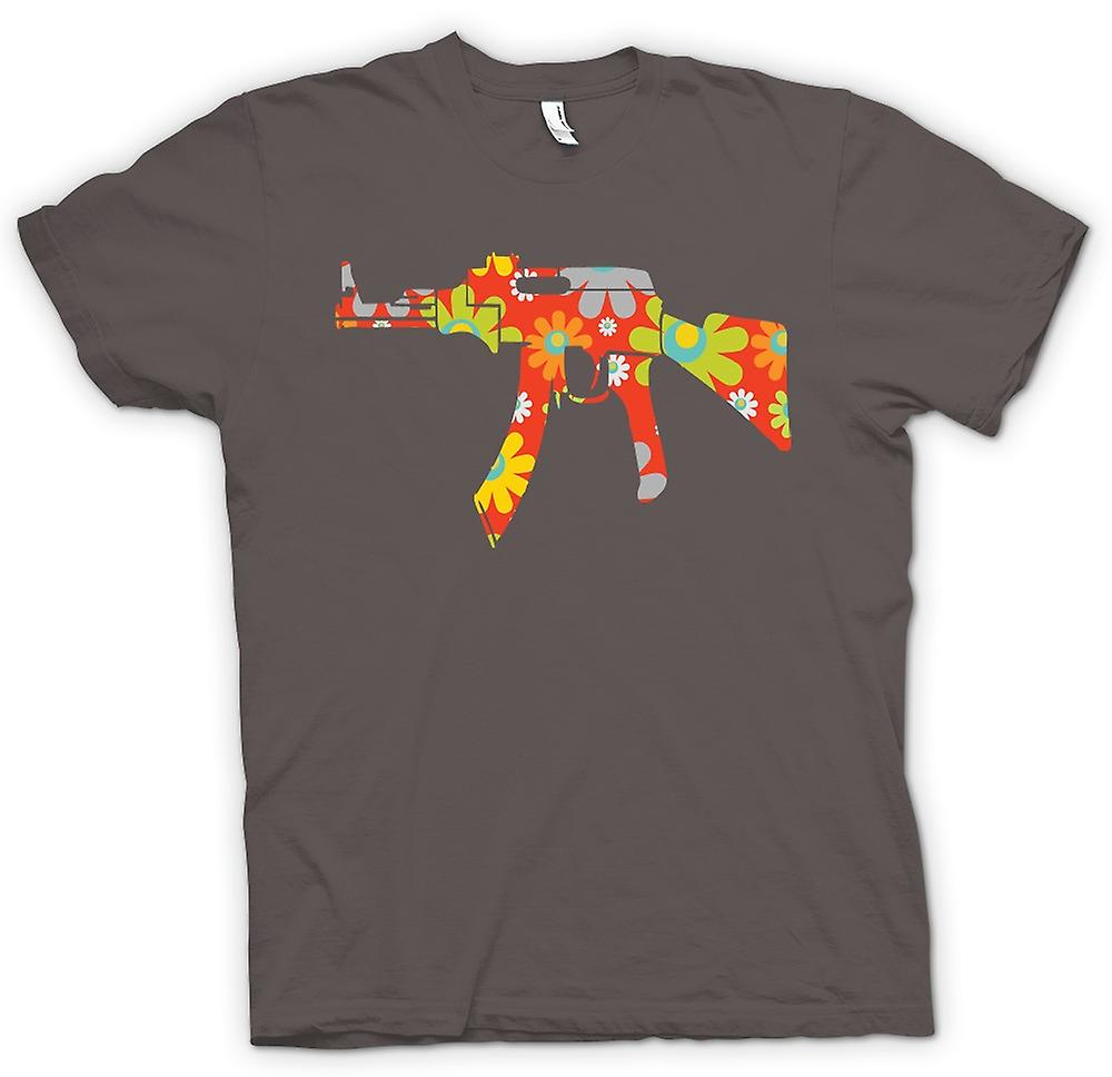 Womens T-shirt - AK47 Hippie Peace - Funny