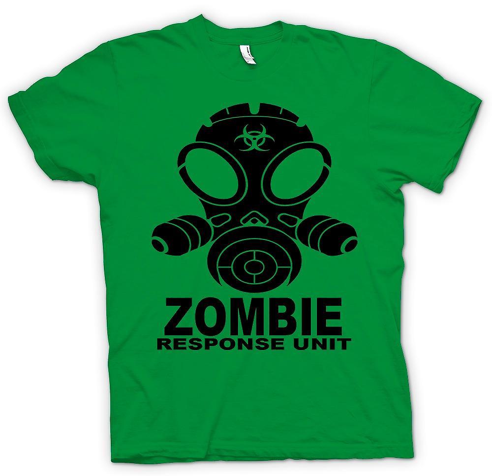 Mens T-shirt - Zombie Response Unit - Gasmaske