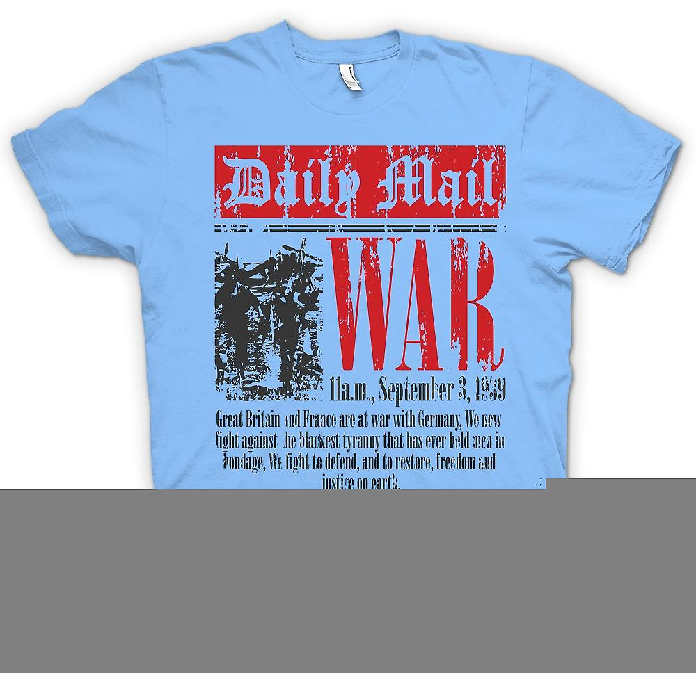 Mens T-shirt - Newspaper - War Declaration Sep 3rd 1939